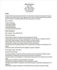 Assistant Project Manager Resume Sample by 36 Manager Resume Templates Download Free U0026 Premium Templates