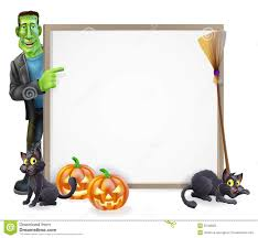 halloween banner clipart halloween frankenstein sign royalty free stock photo image 33182825