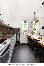 kitchen interior pictures modern apartment living room open kitchen stock photo 552165496