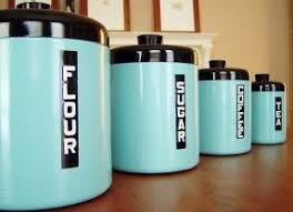metal kitchen canisters flour sugar canisters foter