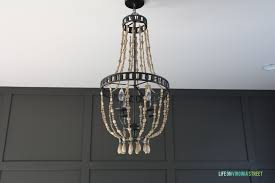 How To Make A Beaded Chandelier Wood Chandeliers And Chandeliers Life On Virginia Street