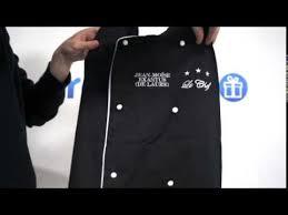 tablier de cuisine professionnel personnalisé tablier de chef cuisinier noir brodé à personnaliser