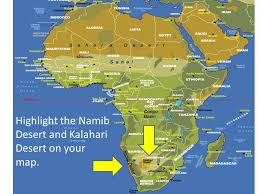 africa map kalahari desert sub saharan africa ppt