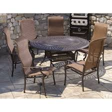 alfresco home 22 3010 naples wicker dining height set with 60