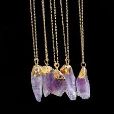 purple crystal stone necklace images Buy new arrival charms purple crystal stone jpg