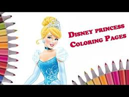 cinderella coloring disney princess coloring book learn