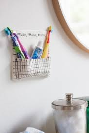 diy air dry clay toothbrush wall pocket live free creative co