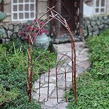 Willow Trellis Amazon Com Miniature Fairy Garden Willow Arbor Rustic Fairy