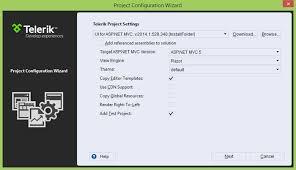 understanding the options for a new telerik asp net mvc proj