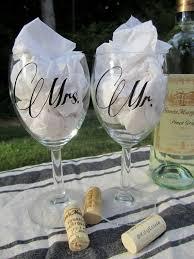 Wedding Gift Glasses Mr Mrs Wedding Wine Glasses Personalized Wine Glasses