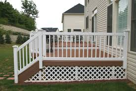 deck rail planters lowes exterior design exciting trex decking with wood deck floor and