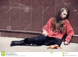 homeless girl|Homeless Girl. New York City,
