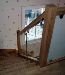 Stair Banister Brackets Oak Square Section Handrails Ungrooved