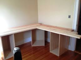 Diy L Shaped Computer Desk Furniture Diy Corner Desk Made From Recycled Wood Ideas Simple