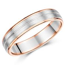 silver coloured rings images Two color wedding rings choose from 9ct 18ct two tone gold jpg
