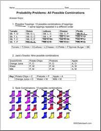 all possible combinations upper el middle probability abcteach