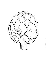 artichoke vegetables coloring pages for kids printable free