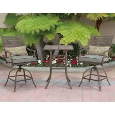Courtyard Creations Patio Furniture by Courtyard Creations Melrosa 3 Pc Stamp Cushion Balcony Set