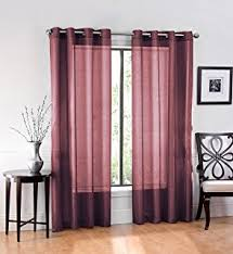 Allen And Roth Curtains Amazon Com Allen Roth Anaheim Sheer Curtain 84 In L Geometric