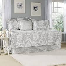 White Metal Daybed Furniture White Metal Daybed Frame With Grey White Daybed Bedding