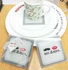 indian wedding favors indian wedding favors glass coaster mr mrs placemats cup mat