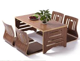 dining room sets solid wood 5pcs set modern japanese style dining table and chair asian floor