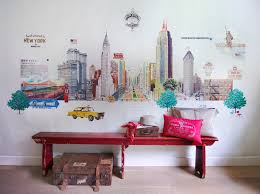 design house skyline yellow motif wallpaper travel memories wallpaper u2013 30s magazine