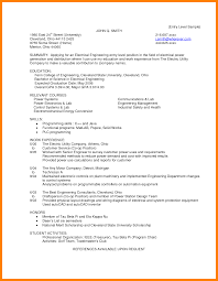 Electronic Engineering Resume Sample by Electrical Engineering Resume Examples Resume For Your Job