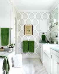 wallpapered bathrooms ideas wallpapered bathrooms navy blue chain wallpaper bathroom houzz