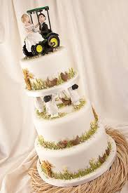 deere cake toppers deere country tractor fall wedding cake topper the wedding