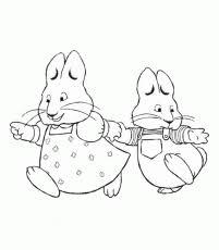 max and ruby coloring page coloring home