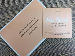 julep beauty box november 2016 subscription box review free box