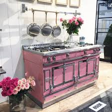 pink kitchen decorating ideas cylinder shine contemporary cooker