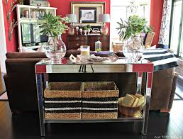 Skinny Wall Table by Sofa Table Ideas Image Of Long Rustic Sofa Table The 25 Best
