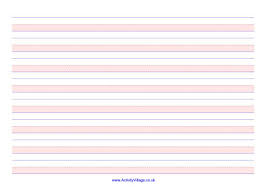 handwriting lines large landscape shaded pink busy