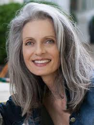 gray streak in hair photo gallery of long hairstyles for gray hair viewing 5 of 15