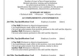 resume with accomplishments functional resume template free functional resume dummies job