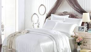 White Silk Bedding Sets Duvet Covers Mulberry Silk Fabric White Comforter Sets Bed