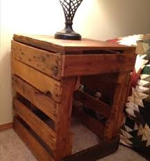 creative wooden nightstand with hidden compartment night stand