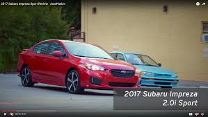 2017 subaru impreza sedan sport video 2017 subaru impreza sport review autonation drive
