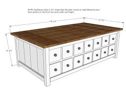 Barn Toy Box Woodworking Plans Build A Apothecary Coffee Table With Toybox Trundle Free And