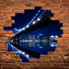 stickers trompe oeil mural sticker mural trompe l u0027oeil new york brooklyn la nuit art déco
