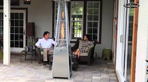 fire sense mocha patio heater fire sense pyramid flame heater 60523 40000 btu stainless steel