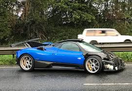 p1 crash one off pagani zonda ps crashed in uk on way to track day