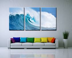 3 panels painted ocean waves oil painting on canvas mural modern 3 panels painted ocean waves oil painting on canvas mural modern wall painting wall picture seascape home decor in painting calligraphy from home garden