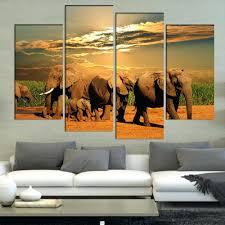 africa animals safari elephant giraffe mural african wall decal popular african canvas wall art buy cheap artafrican wildlife murals landscape