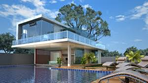 ultra modern glass house architecture design by idolza