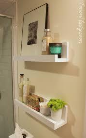 shelf ideas for bathroom shelf beside the toilet wall to wall instead of 1 2 shelf