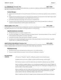 Resume For Food Service Job by Resume For Todd Davis Professional