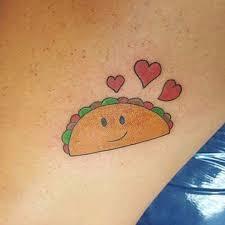 cartoon couple tattoos taco tattoos popsugar latina